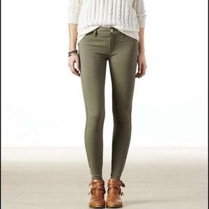 American Eagle Olive Green Skinny Jegging Jeans